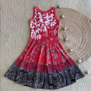 NIC + ZOE scoop neck sleeveless midi dress. Xsmall